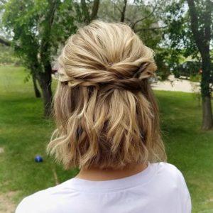 Pinado recogido para cabello Corto